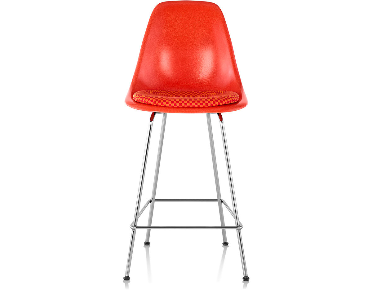 Eames Molded Fiberglass Stool With Seat Pad hivemoderncom