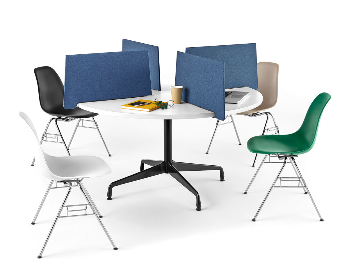 new style 93b7b 47b5b eames® molded plastic side chair with stacking base
