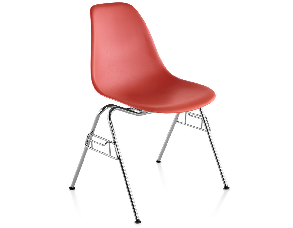 Eames plastic side chair wire base charles and ray eames herman miller - Overview