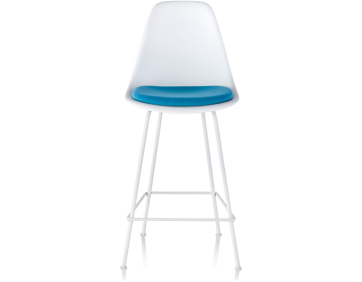 Eames 174 Molded Plastic Stool With Seat Pad Hivemodern Com