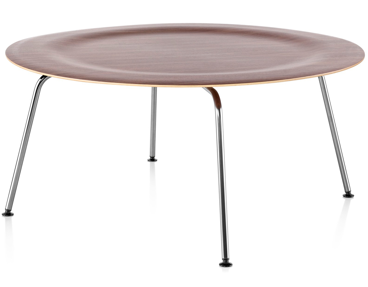 Eames 174 Molded Plywood Coffee Table With Metal Base