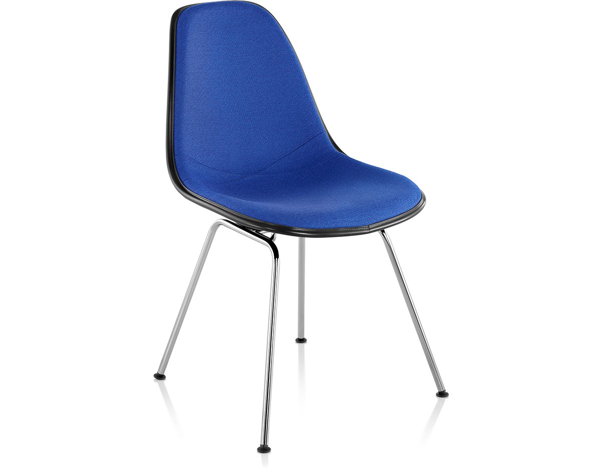 Eames upholstered side chair with 4 leg base for Design eames