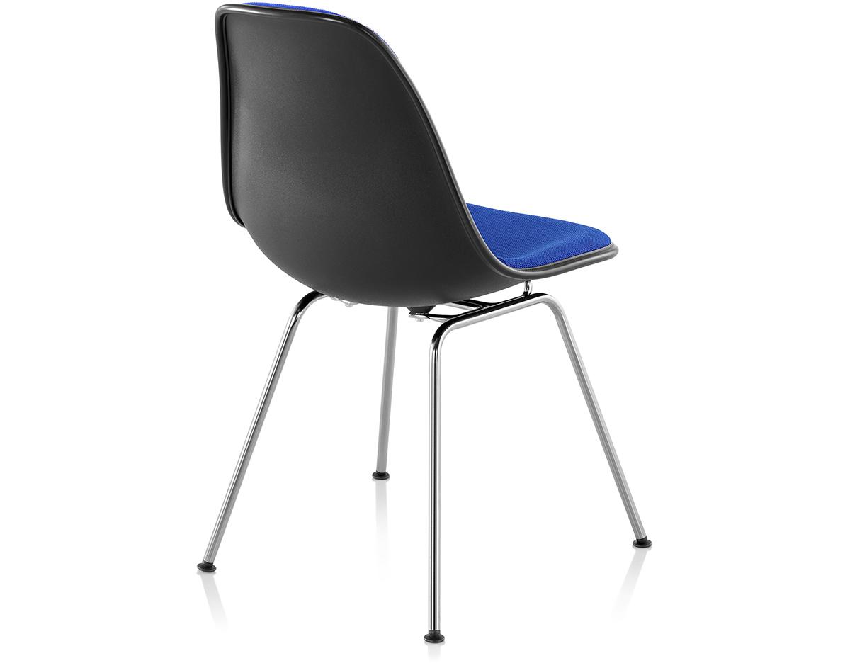 eames upholstered side chair with 4 leg base. Black Bedroom Furniture Sets. Home Design Ideas