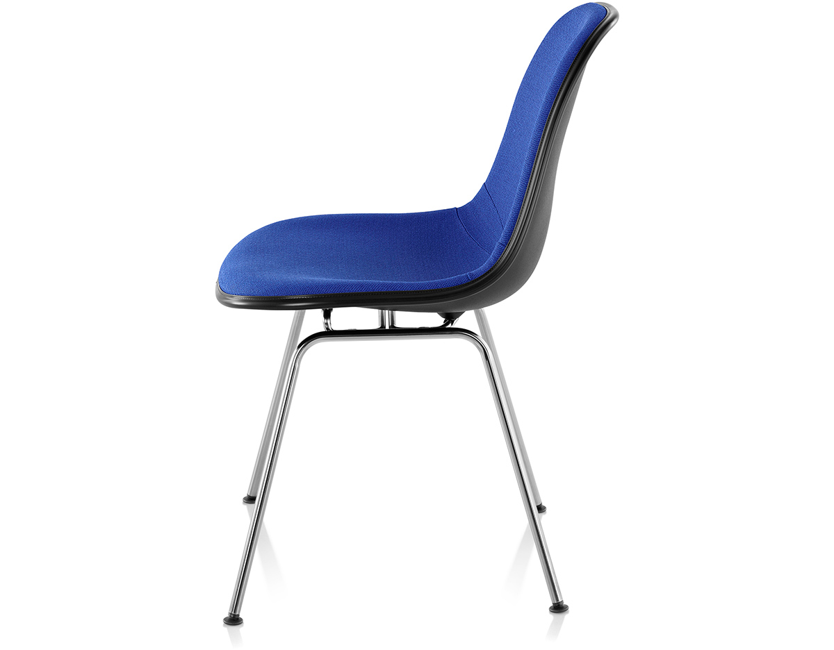 Eames Upholstered Side Chair With 4 Leg Base Hivemoderncom