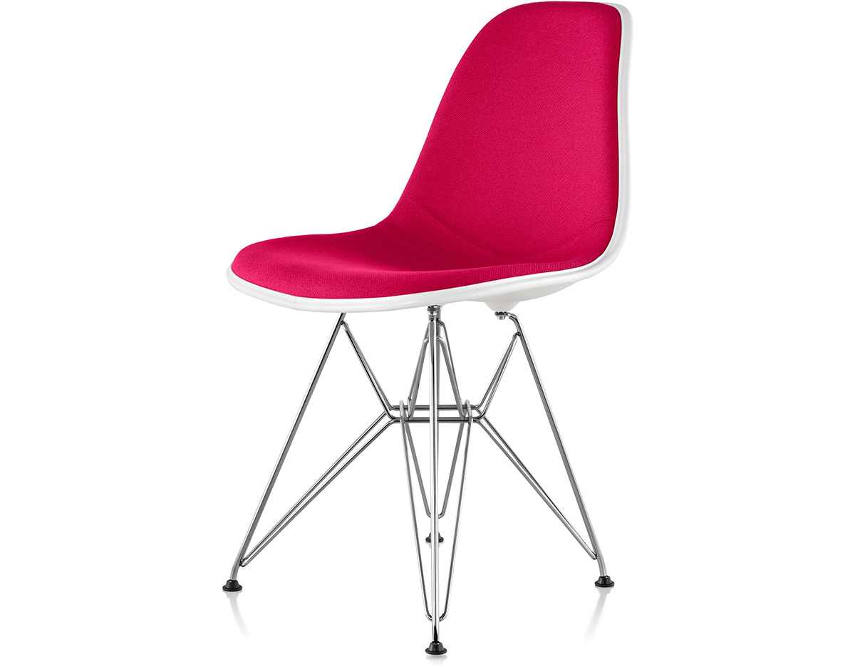 Eames Upholstered Side Chair With Wire Base hivemoderncom