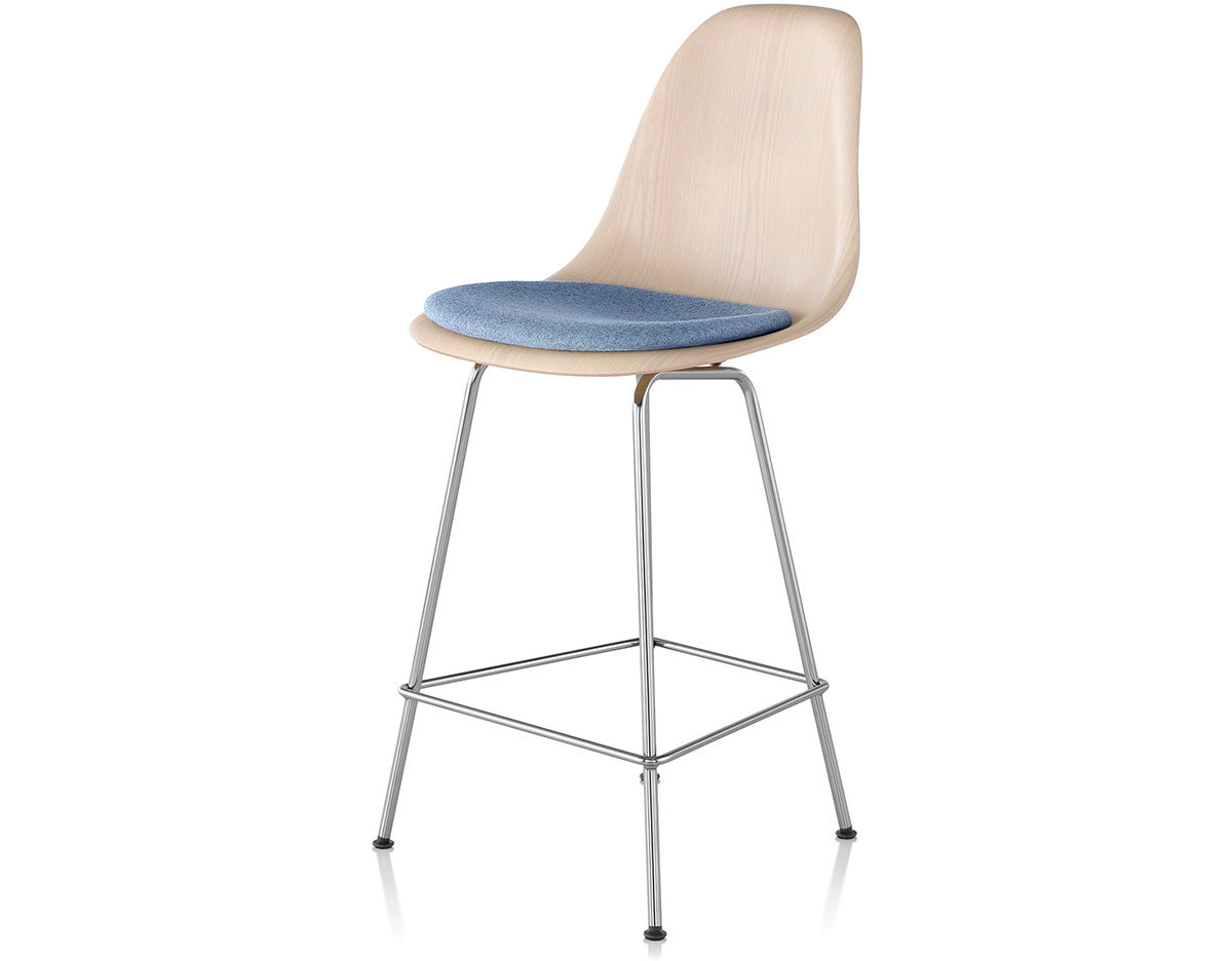 Eames 174 Molded Wood Stool With Seat Pad Hivemodern Com
