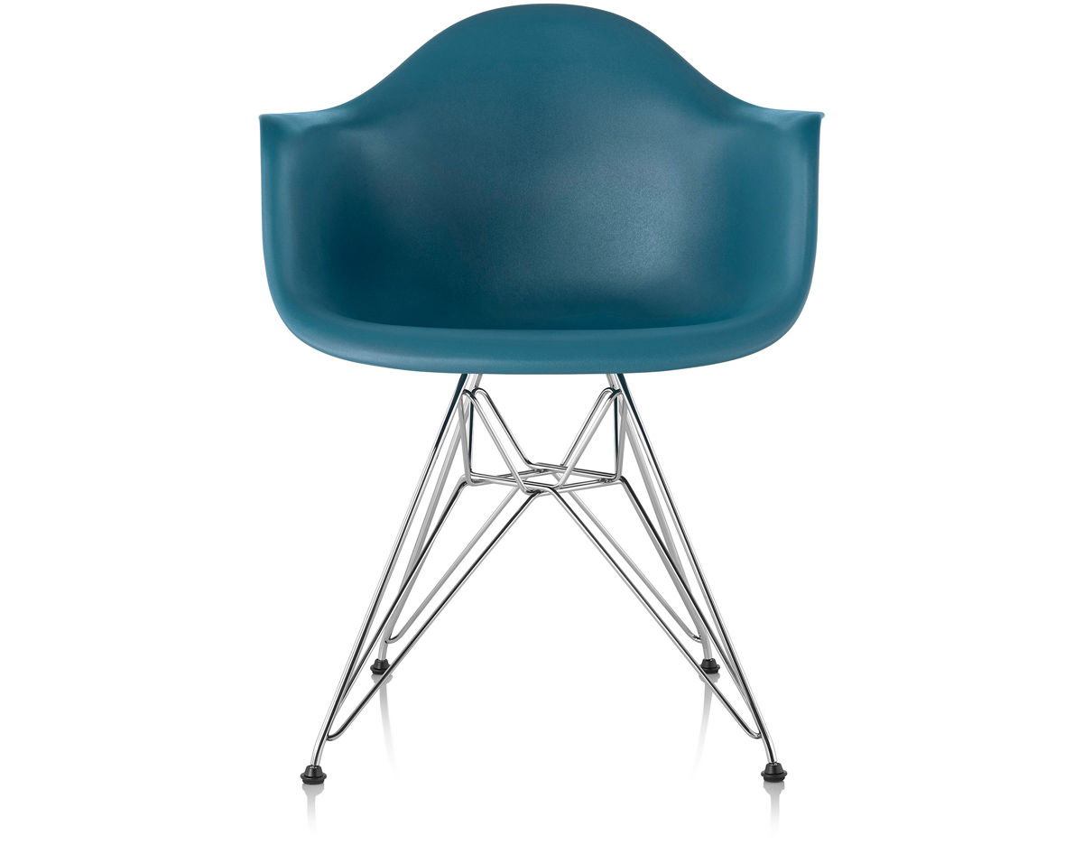 Herman Miller Eames Molded Plastic Chair eames® molded plastic armchair with wire base - hivemodern