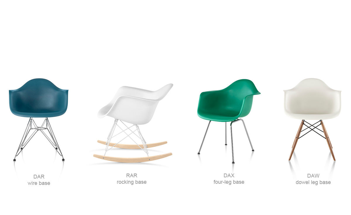 Eames® Molded Plastic Armchair With Wire Base - hivemodern.com