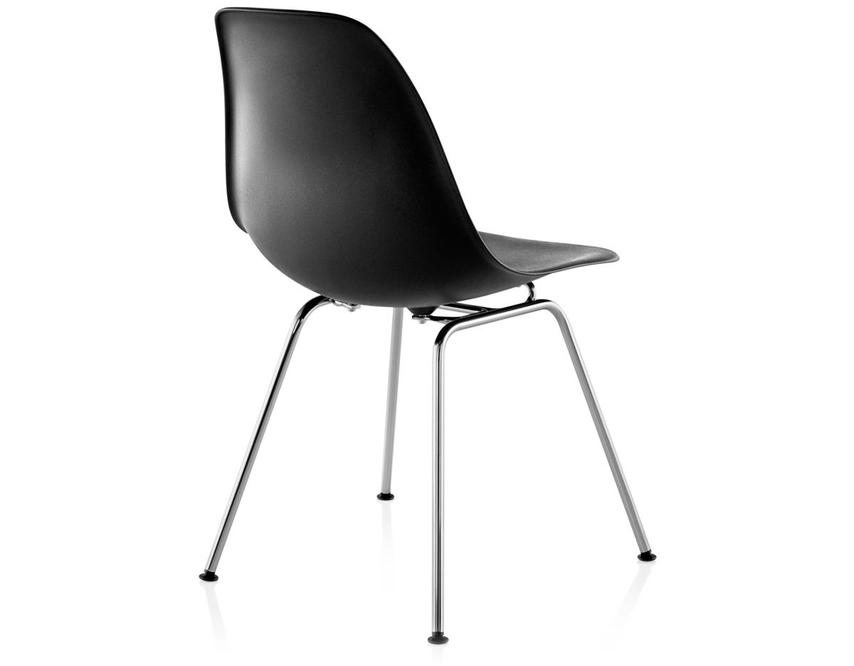 eames molded plastic side chair with 4 leg base. Black Bedroom Furniture Sets. Home Design Ideas