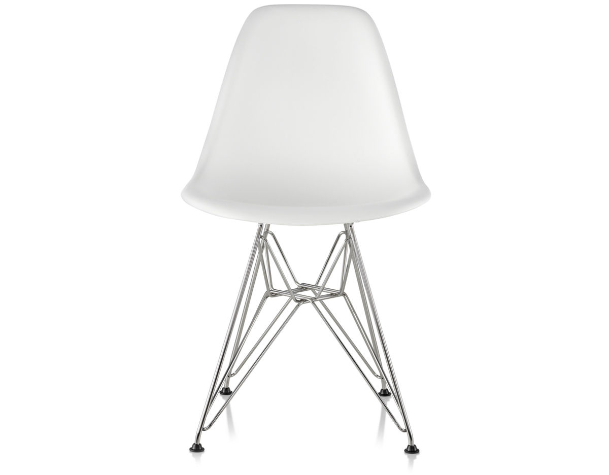 Eames® Molded Plastic Side Chair With Wire Base - hivemodern.com