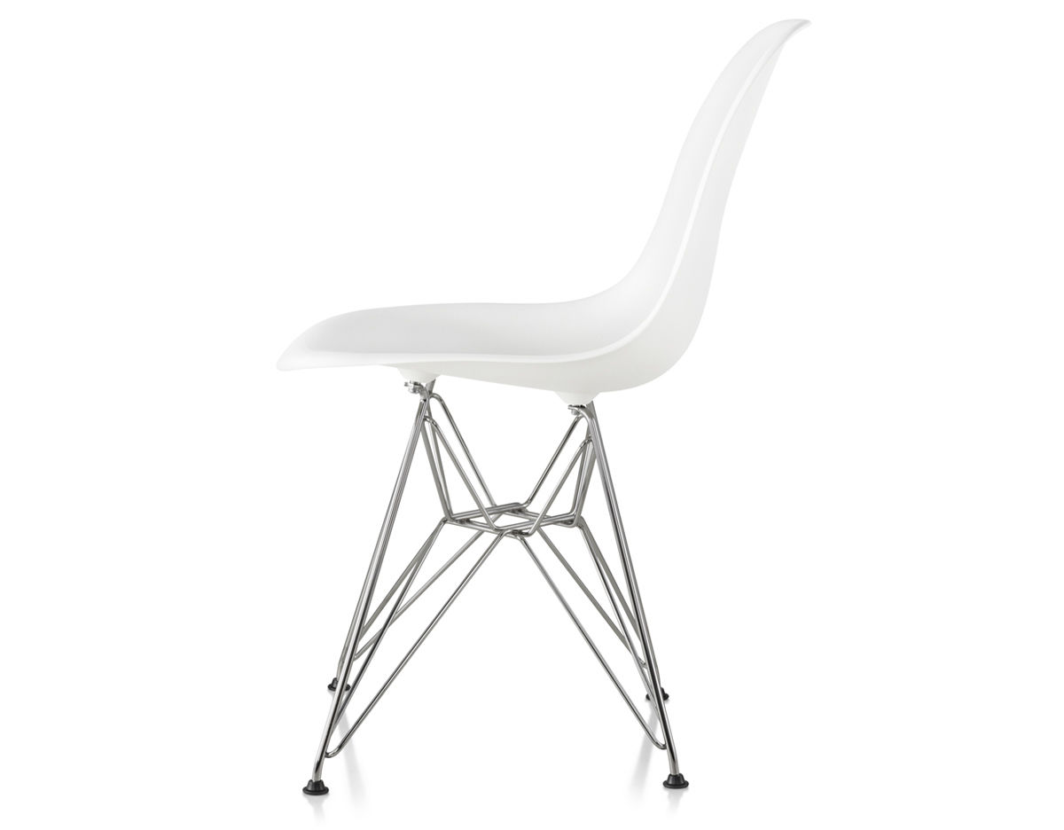 Herman Miller Eames Molded Plastic Chair eames® molded plastic side chair with wire base - hivemodern
