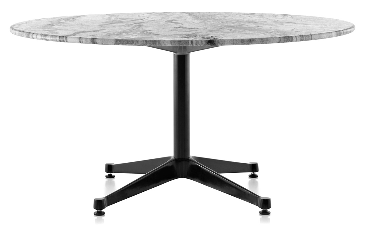 Eames Round Contract Base Outdoor Table Hivemoderncom - Round marble cafe table