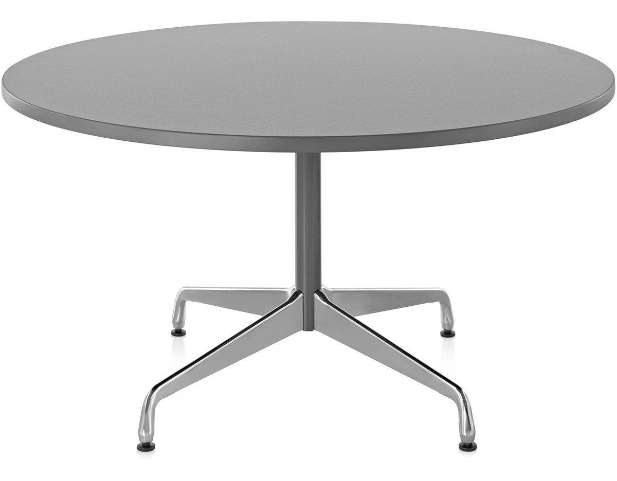 Eames Round Table With Laminate Top & Edge - hivemodern.com