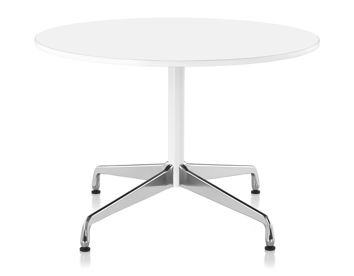 eames round table with laminate top  edge  hivemoderncom - overview