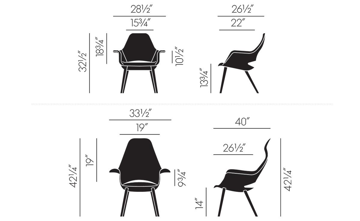 eames saarinen organic chair