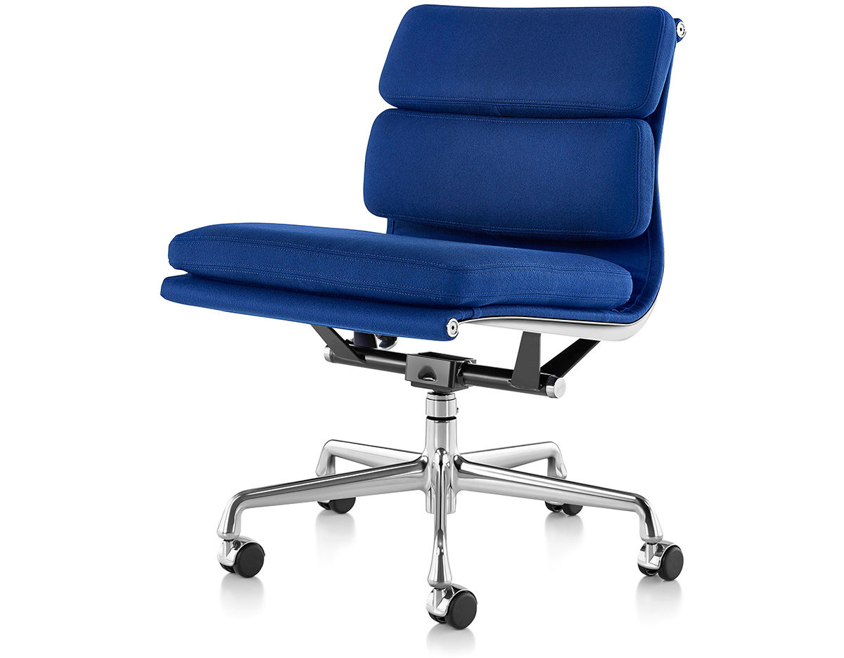 Eames soft pad group management chair with no arms for Herman miller eames aluminum group management chair