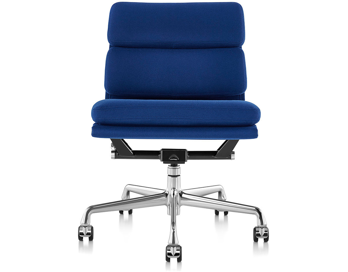 eames® soft pad group management chair with no arms - hivemodern