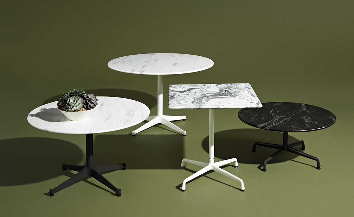 Eames square contract base outdoor table - Eames table herman miller ...