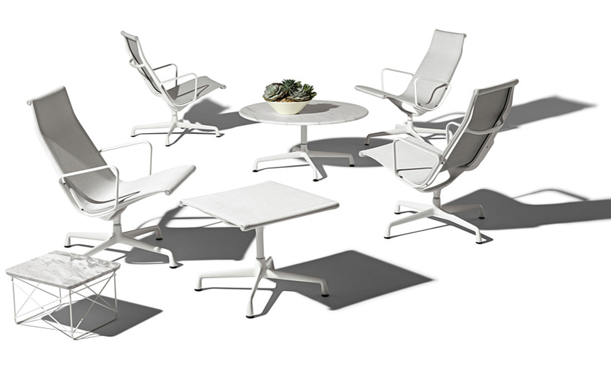 eames universal base outdoor table 30 dia. Black Bedroom Furniture Sets. Home Design Ideas