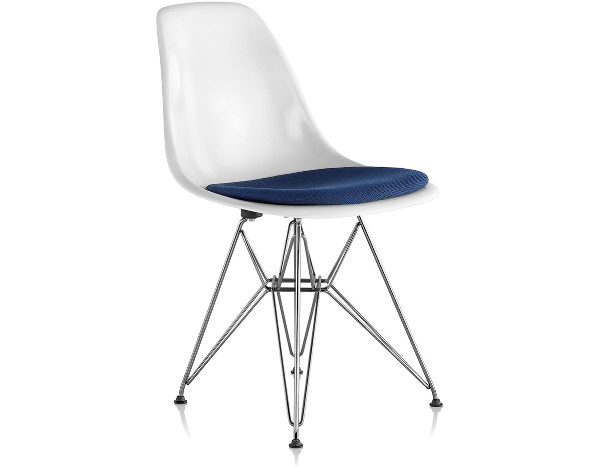 Eames Wire Base Side Chair With Seat Pad