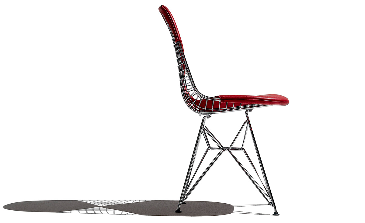 Wire Rocking Chair | Eames Wire Chair With Bikini Pad Hivemodern Com