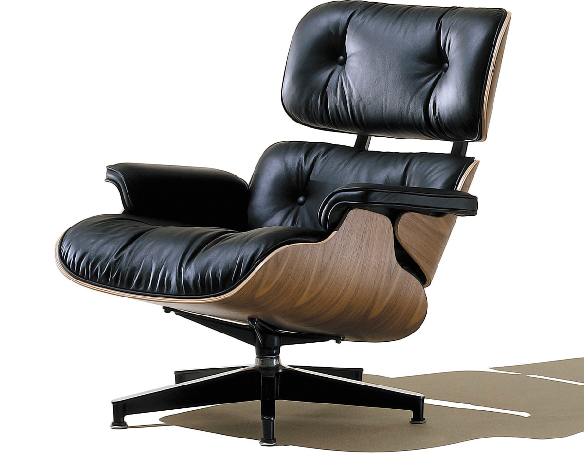 Eames lounge chair no ottoman for Charles eames lounge chair nachbildung