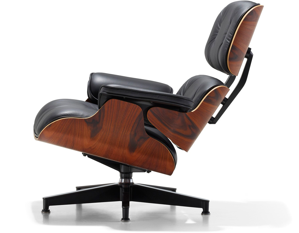 Charles Eames Lounge Stoel.Eames Lounge Chair No Ottoman