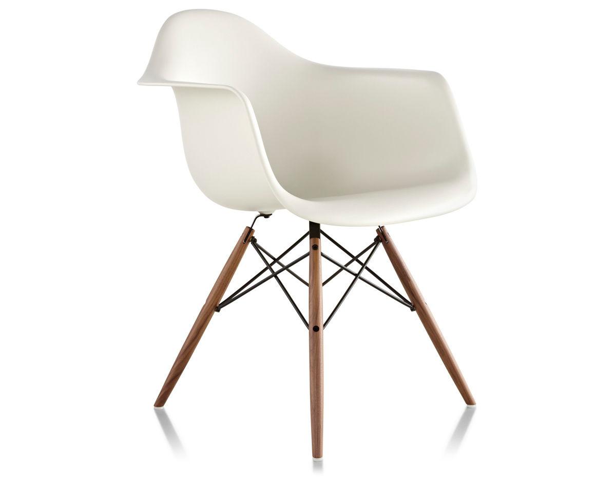 eames molded plastic armchair with dowel base. Black Bedroom Furniture Sets. Home Design Ideas