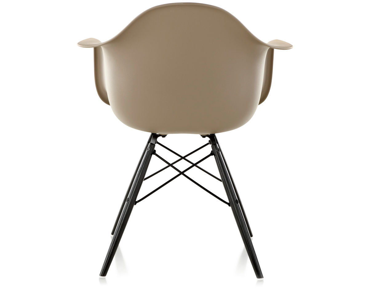 eames molded plastic armchair with dowel base. Black Bedroom Furniture Sets. Home Design Ideas