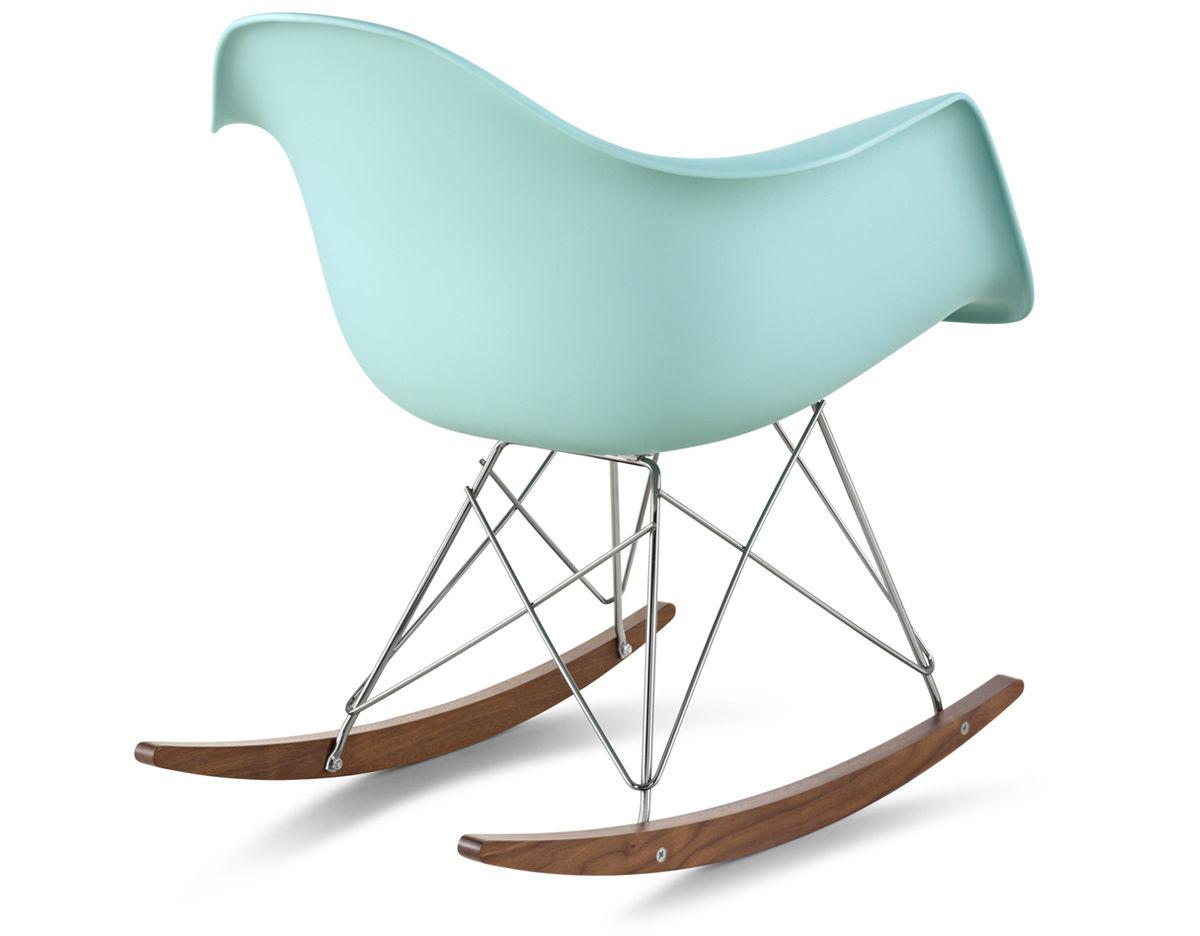eames molded plastic armchair with rocker base. Black Bedroom Furniture Sets. Home Design Ideas