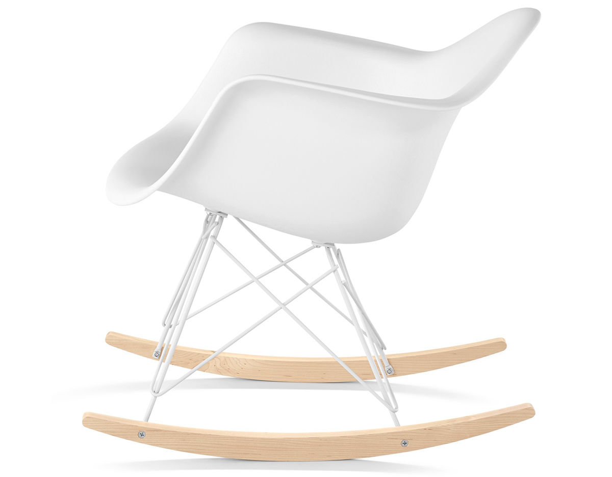 Eames molded plastic armchair with rocker base for Eames plastic armchair replica