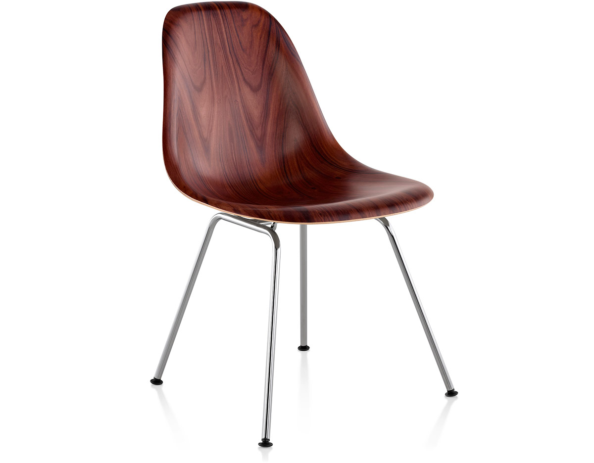 Eames 174 Molded Wood Side Chair With 4 Leg Base Hivemodern Com