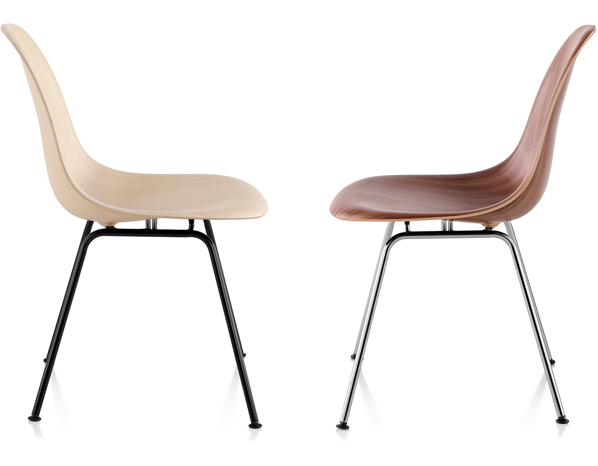 eames molded wood side chair with 4 leg base. Black Bedroom Furniture Sets. Home Design Ideas