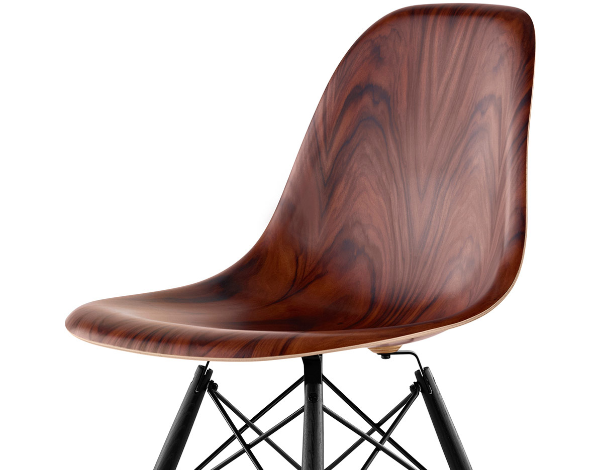 Astonishing Eames Molded Wood Side Chair With Dowel Base Beatyapartments Chair Design Images Beatyapartmentscom