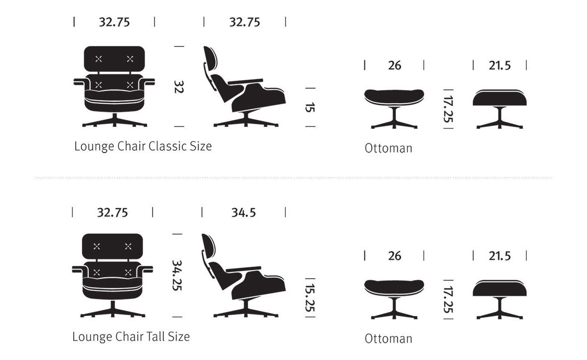 Charles And Eames Lounge Chair eames ottoman only hivemodern com