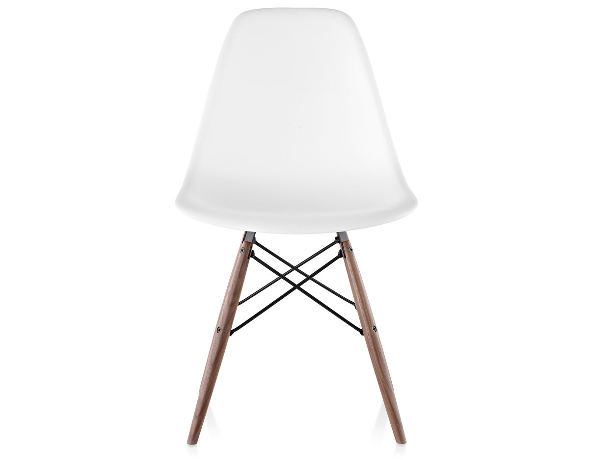 Eames Molded Plastic Side Chair With Dowel Base