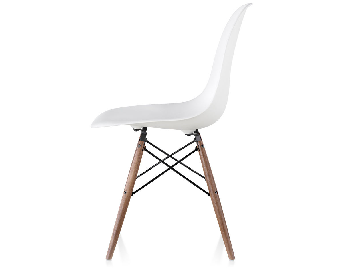 eames molded plastic side chair with dowel base. Black Bedroom Furniture Sets. Home Design Ideas