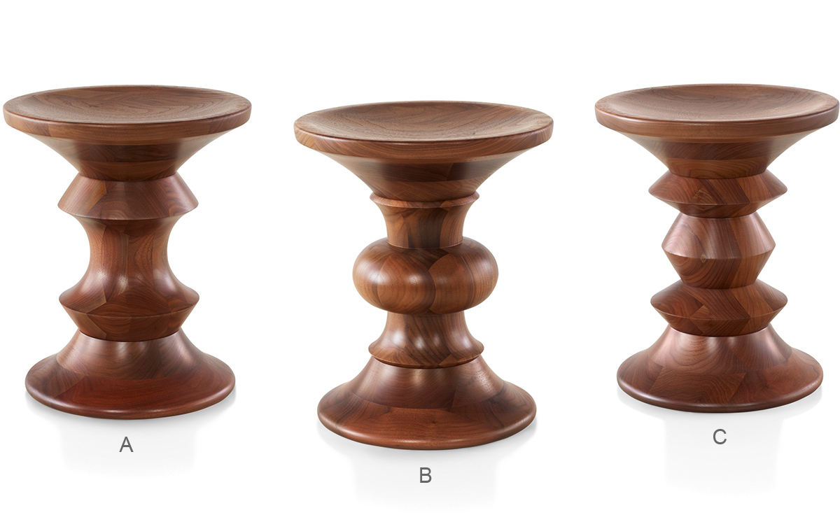 eames® walnut stool  hivemoderncom - overview