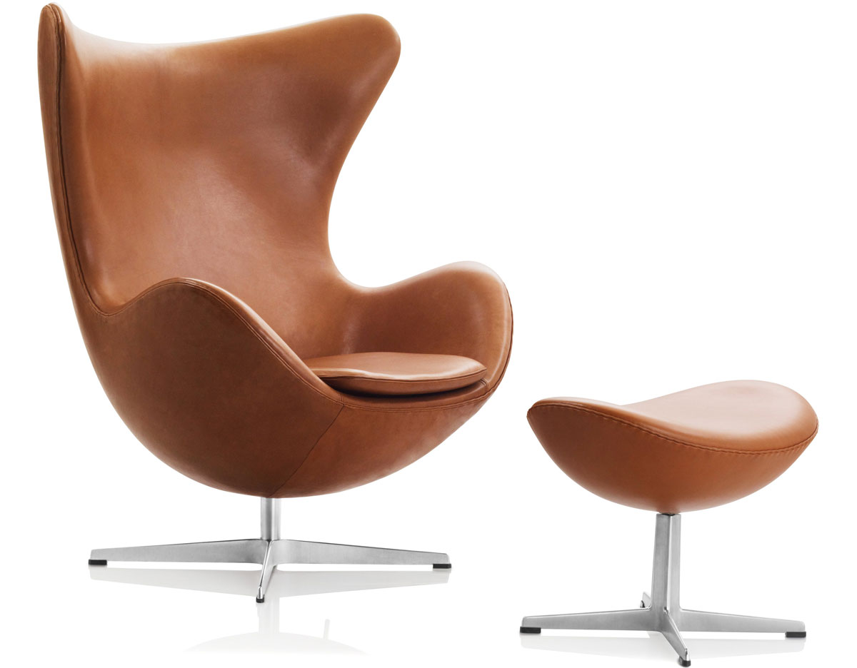 Egg chair ottoman for Chaise arne jacobsen