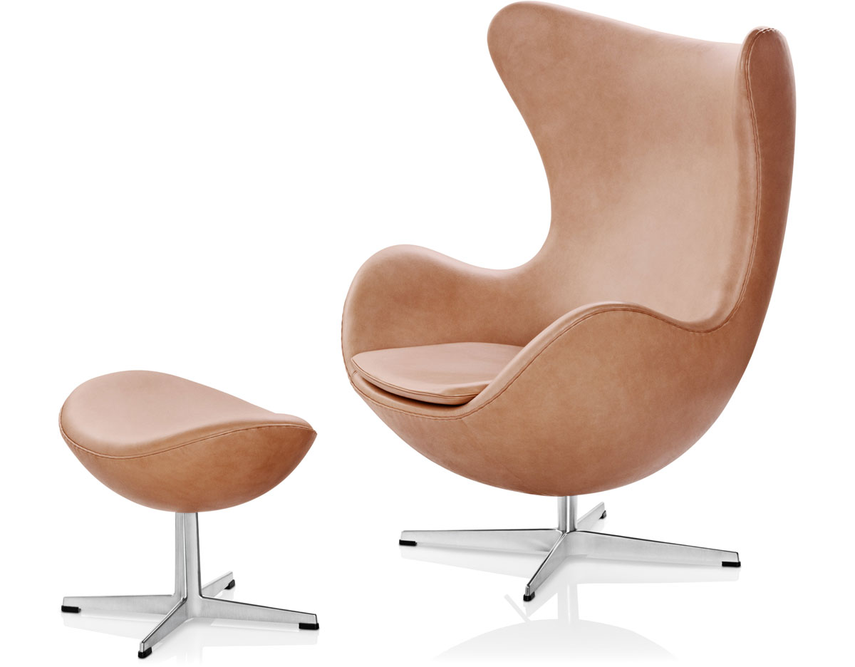 Egg chair ottoman for Famous scandinavian furniture designers