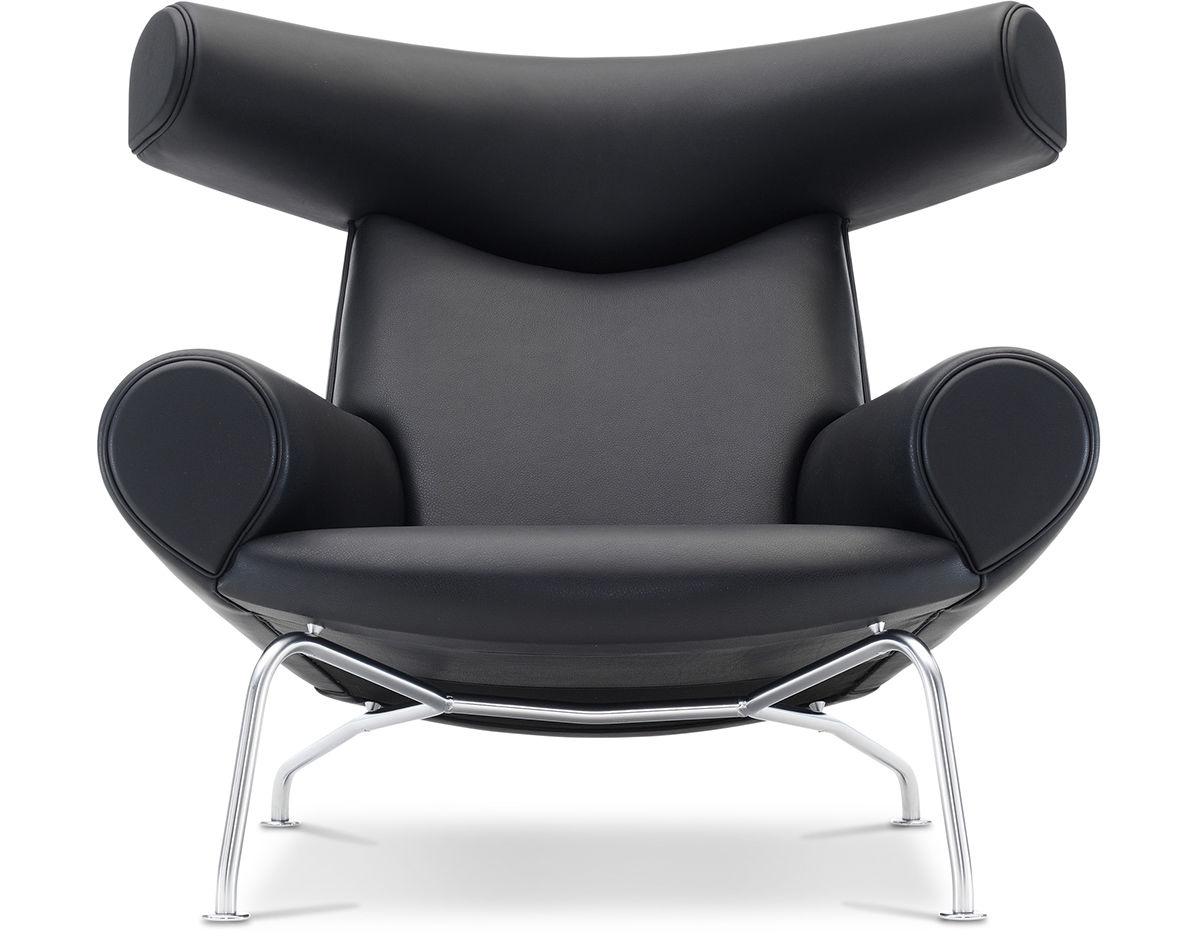 Elegant Hans Wegner Ej100 Ox Chair