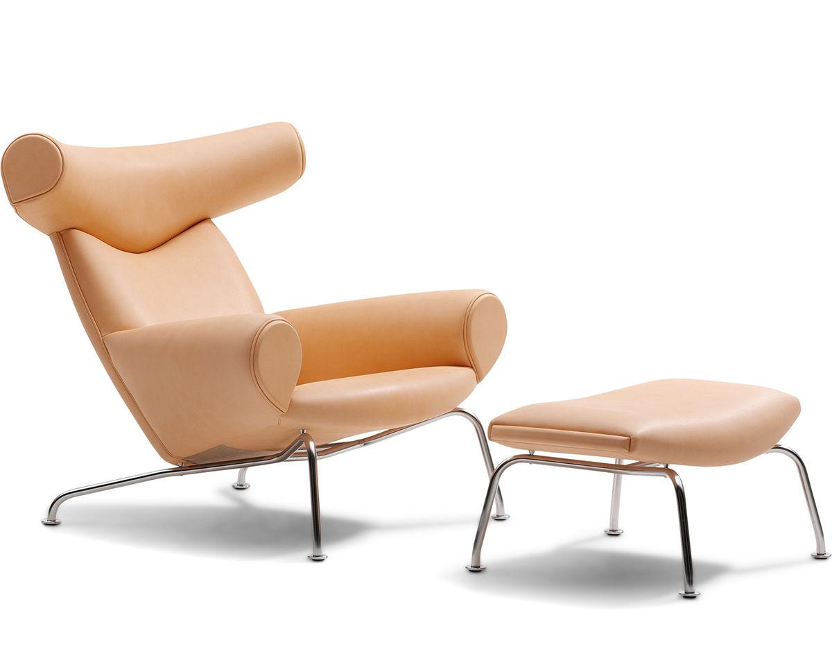 hans wegner ej100 ox chair ottoman. Black Bedroom Furniture Sets. Home Design Ideas