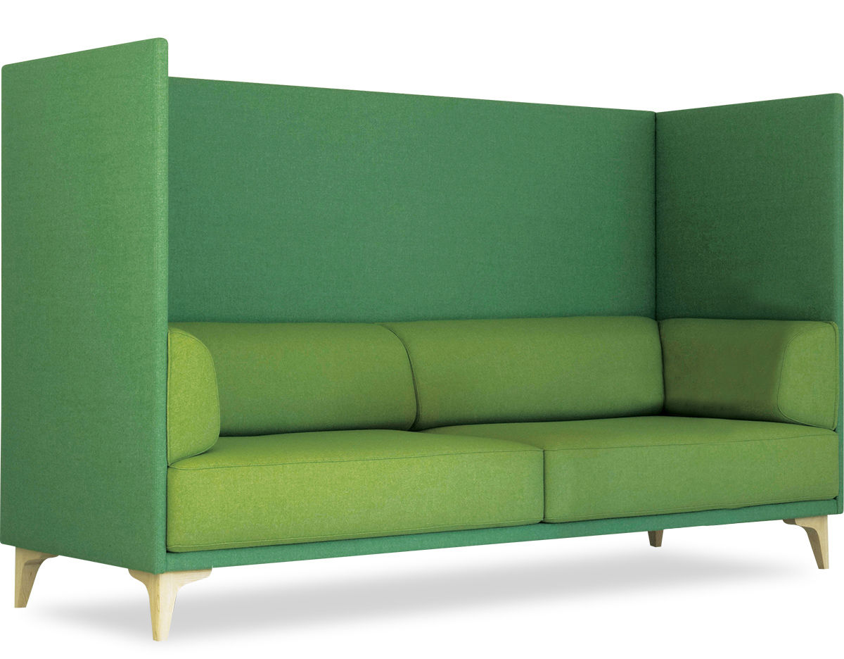Ej400 Apoluna Box High Back 3 Seat Sofa - hivemodern.com