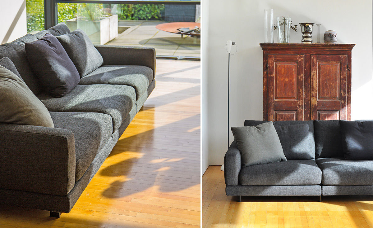 Elle 3 Seat Standard Depth Sofa - hivemodern.com