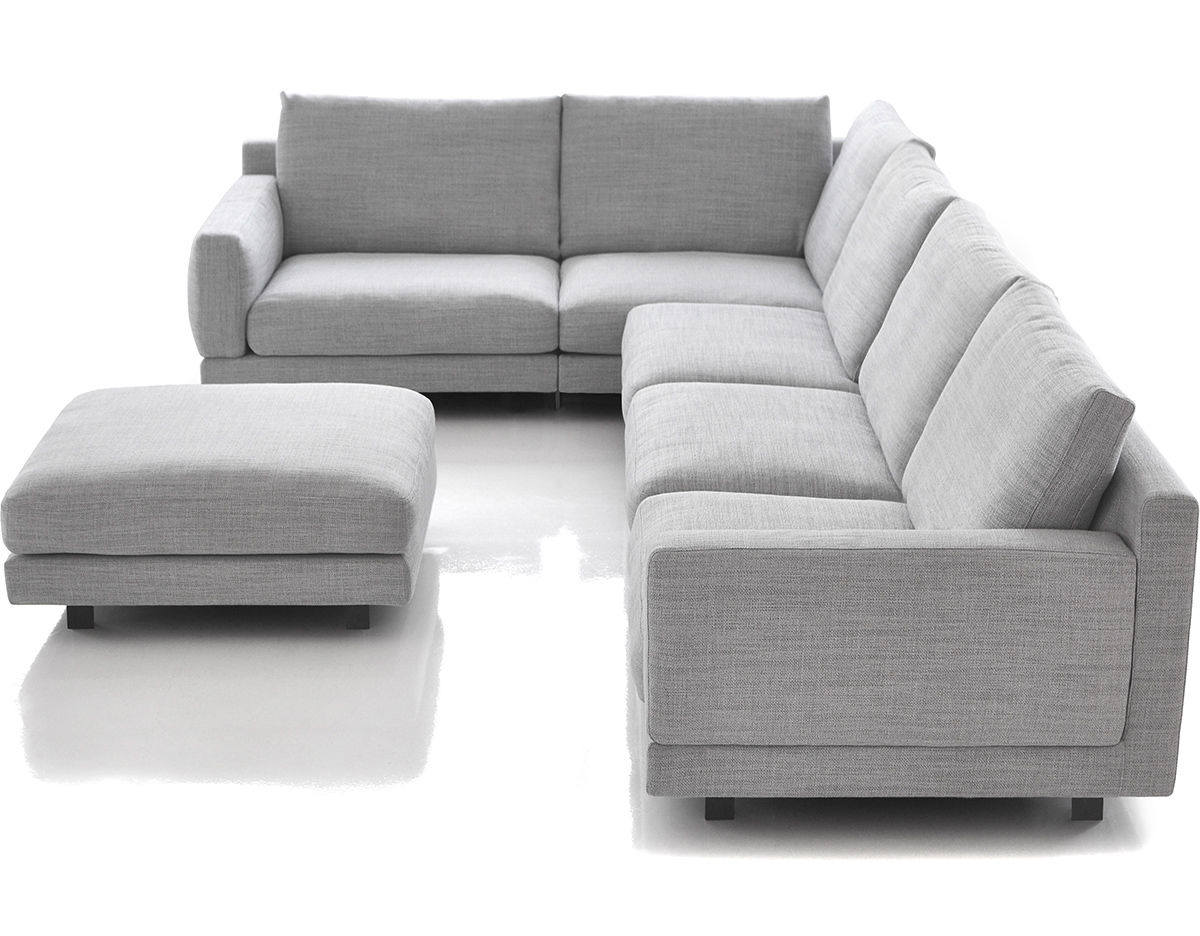 Elle sectional sofa Sofa depth