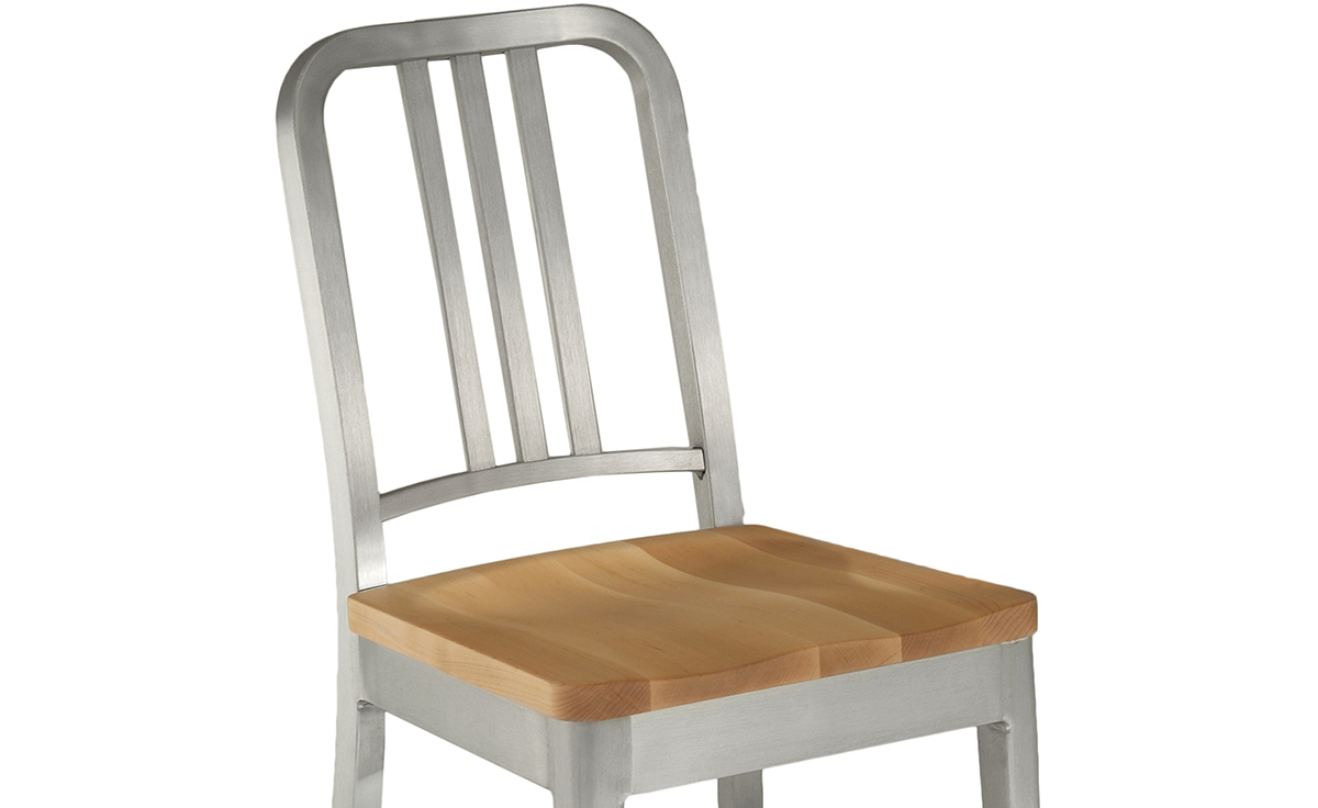 Emeco Navy Chair With Wood Seat Hivemodern Com