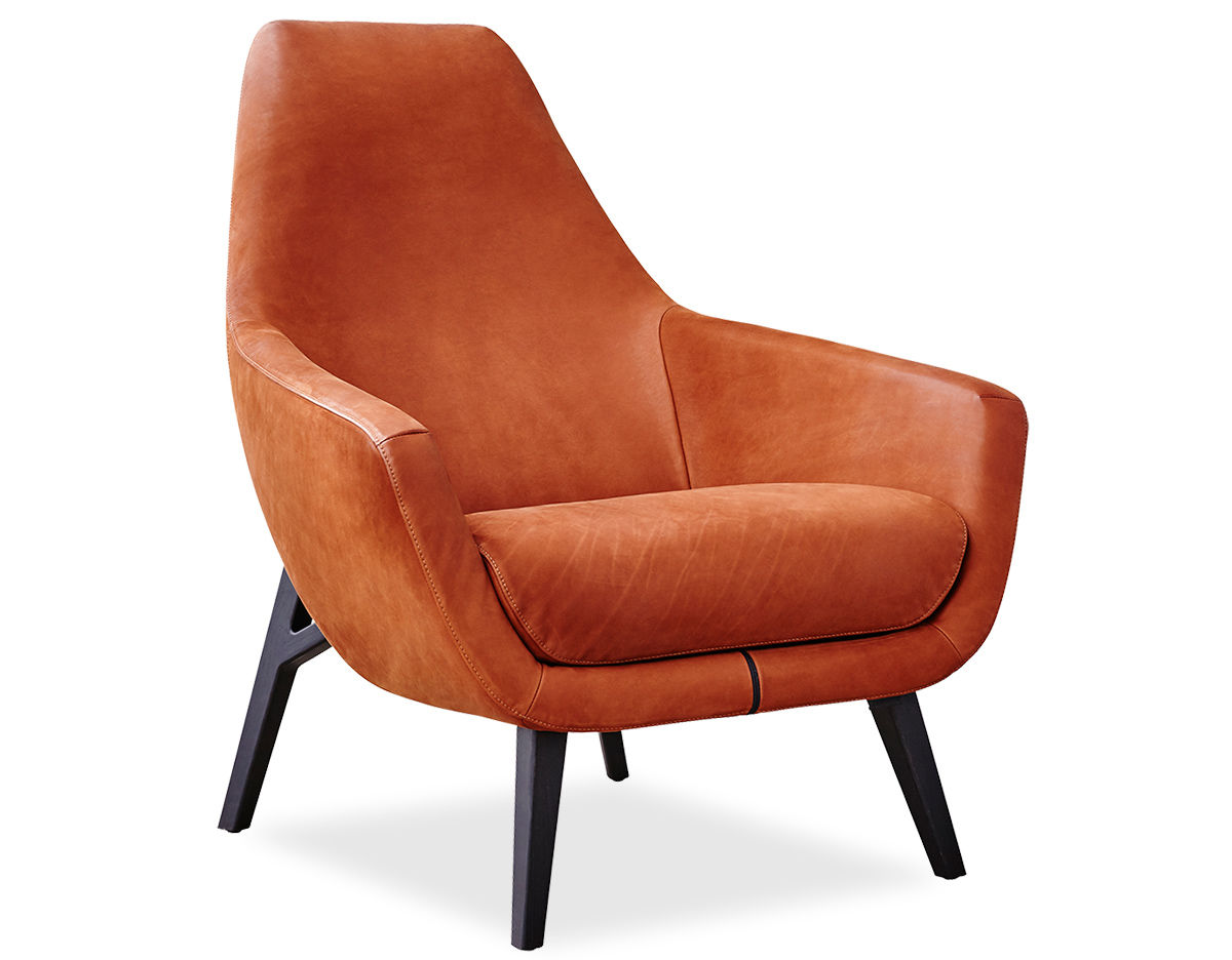 Enzo Lounge Chair With Wood Base Hivemodern Com
