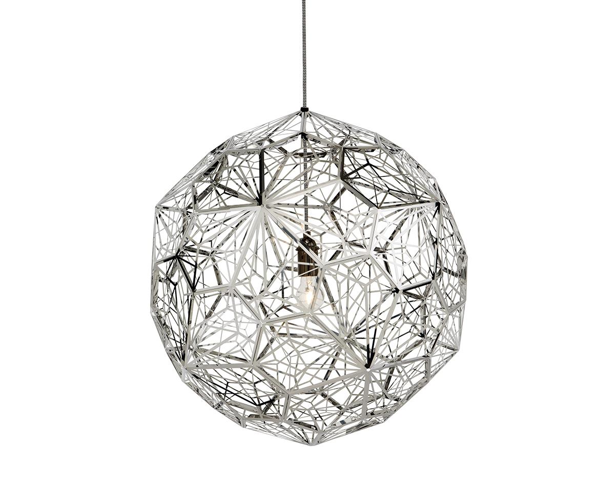 Etch light web pendant light for Luminaire suspension metal