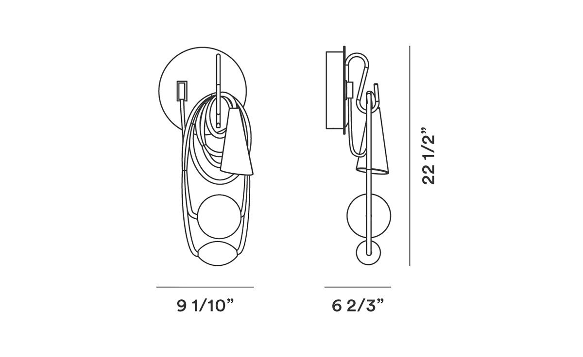 Filo Wall Lamp Sconce Wiring Diagram