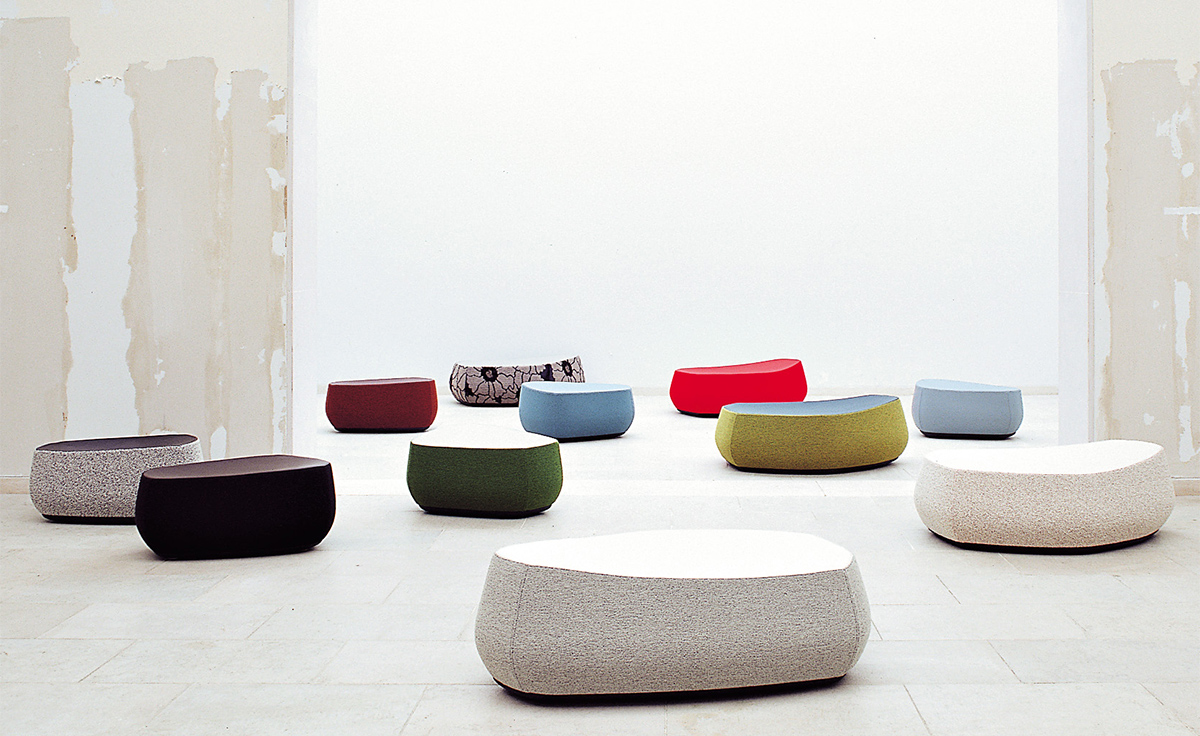 Fjord stones foot stool for Sofa stool design